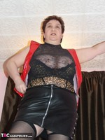 KinkyCarol. Red PVC & Black Leather Mini Pt1 Free Pic 10