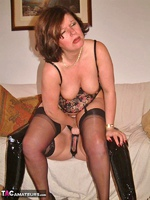Curvy Claire. Lesbo Strap-On Fucking Pt2 Free Pic 9