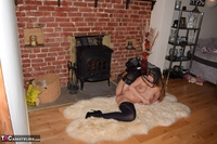 SophiaDelane. Naked In Front Of The Fireplace Free Pic 2