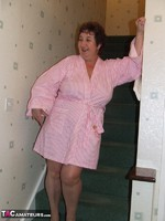 KinkyCarol. Pink Dressing Gown With Black Nightie Pt1 Free Pic 1