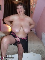 KinkyCarol. Pink Dressing Gown With Black Nightie Pt1 Free Pic 15