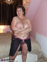 KinkyCarol. Pink Dressing Gown With Black Nightie Pt1 Free Pic 16