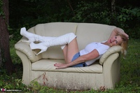 MollyMILF. Sofa In The Woods Free Pic 11