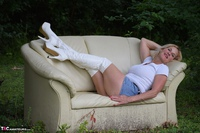 MollyMILF. Sofa In The Woods Free Pic 12
