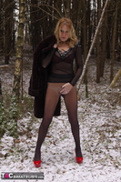 KyrasNylons. Flashing Pussy In Pantyhose Outside Free Pic 7