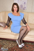 Raven. Blue Dress & See Through Body Stocking Free Pic 1