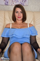 Raven. Blue Dress & See Through Body Stocking Free Pic 7