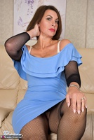 Raven. Blue Dress & See Through Body Stocking Free Pic 8