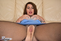 Raven. Blue Dress & See Through Body Stocking Free Pic 13
