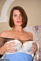 Raven. Blue Dress & See Through Body Stocking Free Pic 18