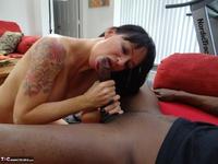 Richard Mann. Angie Noir takes a big black cock Free Pic 3