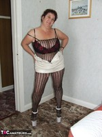 KinkyCarol. Leather Mini & Body Stocking Free Pic 8