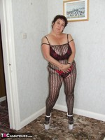 KinkyCarol. Leather Mini & Body Stocking Free Pic 9