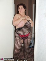 KinkyCarol. Leather Mini & Body Stocking Free Pic 13