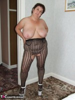 KinkyCarol. Leather Mini & Body Stocking Free Pic 15