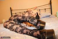 Tracey Lain. Black Patterned Pantyhose Free Pic 3