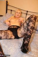 Tracey Lain. Black Patterned Pantyhose Free Pic 5