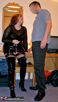 CurvyClaire. PVC Thigh Boot Fun Pt1 Free Pic 3