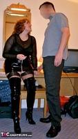 Curvy Claire. PVC Thigh Boot Fun Pt1 Free Pic 3