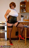 CurvyClaire. Kitchen Leather Mini Pt1 Free Pic 10
