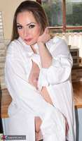 Phillipas Ladies. Curvy Sophia stripping in the kitchen Free Pic 2