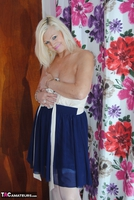 PlatinumBlonde. White & Blue Dress Comes Off Free Pic 2