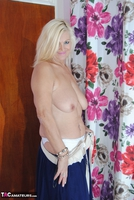 PlatinumBlonde. White & Blue Dress Comes Off Free Pic 3