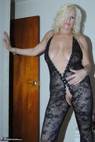 PlatinumBlonde. Black Body Stocking Free Pic 15