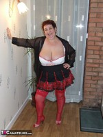 KinkyCarol. Mini Kilt & Red Stockings Free Pic 8