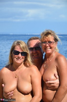 SweetSusi. Hot Threesome On The Beach Free Pic 1