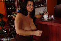 BustyReny. More teasing in a bar Free Pic 17