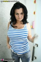 Busty Reny. Getting ready for the shower Free Pic 8