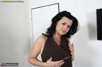 Busty Reny. Big boobs on white table Free Pic 9