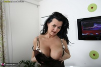 Busty Reny. Big boobs on white table Free Pic 12