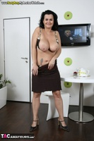 Busty Reny. Big boobs on white table Free Pic 15