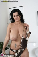 Busty Reny. Big boobs on white table pt2 Free Pic 1