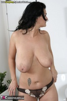 Busty Reny. Big boobs on white table pt2 Free Pic 2