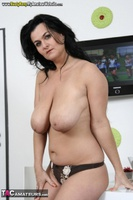 Busty Reny. Big boobs on white table pt2 Free Pic 3