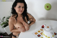 Busty Reny. Big boobs on white table pt2 Free Pic 9