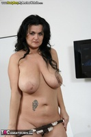 Busty Reny. Big boobs on white table pt2 Free Pic 12