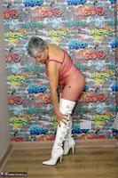. White PVC Boots Free Pic 10