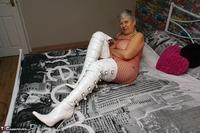 . White PVC Boots Free Pic 15