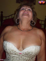 BustyBliss. Cream Embriodered Busty Corset Free Pic 4