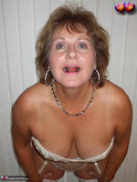 BustyBliss. Cream Embriodered Busty Corset Free Pic 5