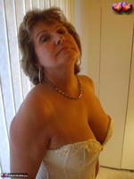 Busty Bliss. Cream Embriodered Busty Corset Free Pic 7