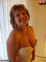 BustyBliss. Cream Embriodered Busty Corset Free Pic 8