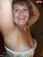 BustyBliss. Cream Embriodered Busty Corset Free Pic 12