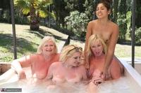 Melody. Lesbo Hot Tub Orgy Pt3 Free Pic 5