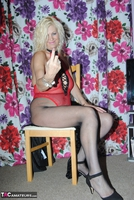 PlatinumBlonde. Red Fishnet Pt1 Free Pic 6
