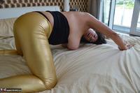 LuLu Lush. Shiny Gold Leggings Free Pic 13